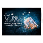Lights mason jar dreamy wedding thank you card