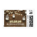 lights mason jars rustic wedding postage stamps
