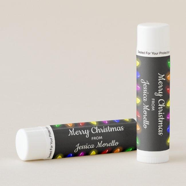 Lights Merry Christmas Lip Balm Custom Favor Gift