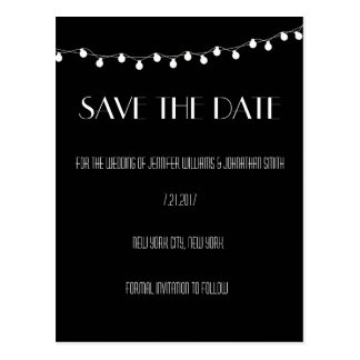 Lights Modern Save The Date Cards