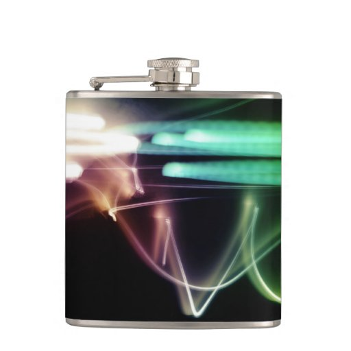 Lights movement hip flask
