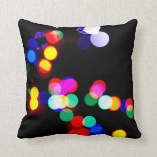 lights neon dark royal rich colors throw pillow
