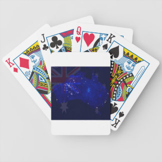 Lights of Australia from Space and Flag. Bicycle Playing Cards
