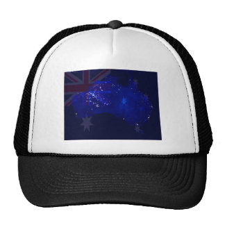 Lights of Australia from Space and Flag. Trucker Hat