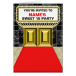 Lights of Broadway Marquee Sweet 16 - Customizable Greeting Card