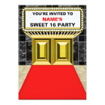 Lights of Broadway Marquee Sweet 16 - Customizable 5x7 Paper Invitation Card