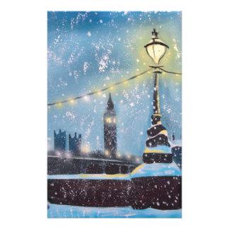 Lights of London winter painting Gordon Bruce art Stationery