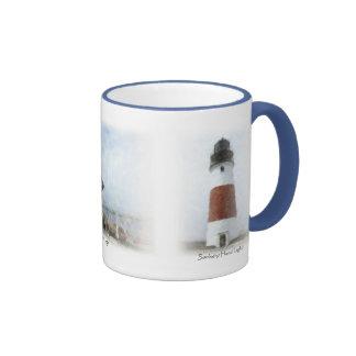 Lights of Nantucket Ringer Coffee Mug