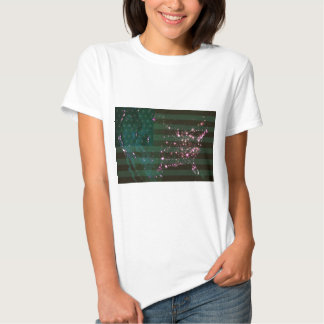 Lights of the United States from Space and Flag. Tshirts