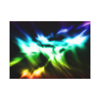 Lights of the world stretched canvas print
