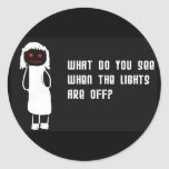 Lights off stickers