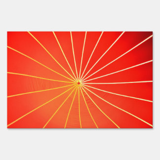 Lights on a red background sign