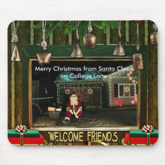 Light's on College Lane Santa Claus Mouse Pad