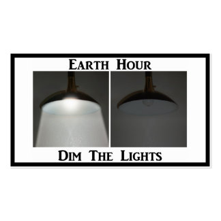 Lights On / Off - Dim the Lights for Earth Hour Business Card Template