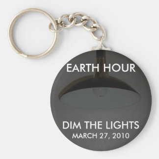 Lights On / Off - Dim the Lights for Earth Hour Keychain