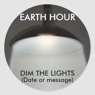 Lights On / Off - Dim the Lights for Earth Hour Sticker