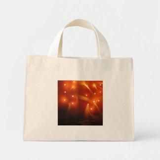 Lights on the wall mini tote bag