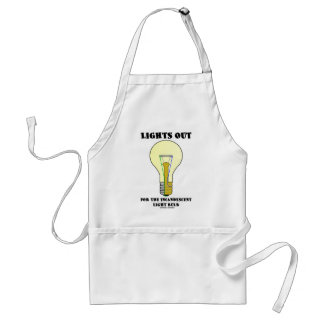 Lights Out For The Incandescent Light Bulb (Humor) Adult Apron