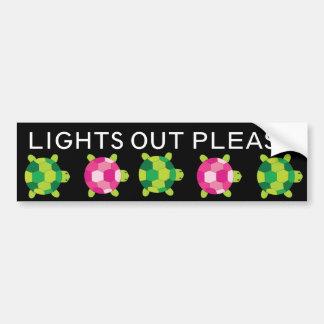 Lights Out - SRF Bumper Sticker