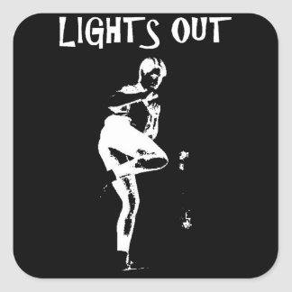 Lights Out Round Stickers