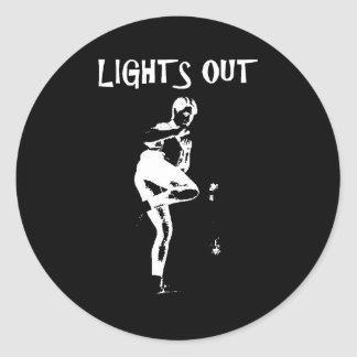 Lights Out Classic Round Sticker