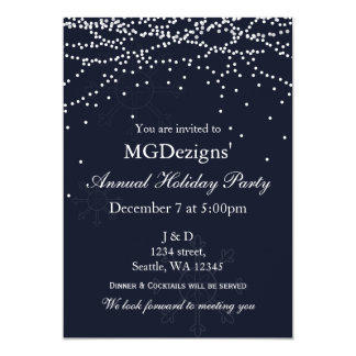 lights snow festive Corporate holiday party Invite