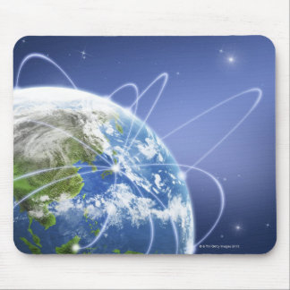 Lights Surrounding Earth Mouse Pad