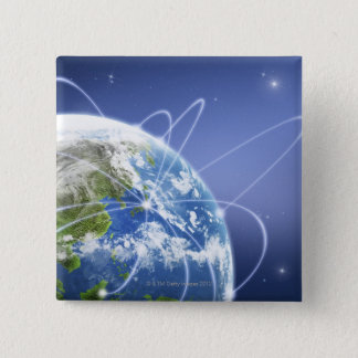 Lights Surrounding Earth Pinback Button
