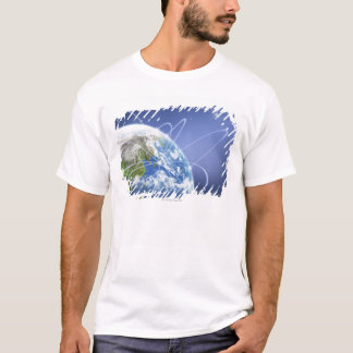 Lights Surrounding Earth T-Shirt