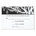 "lights tree mason jar flowers wedding RSVP cards 3.5"" X 5"" Invitation Card"