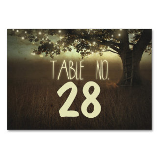Lights Tree Wedding Table Number Cards Place Cards