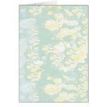 Lightshade Yellow Green Floral Template Greeting Cards