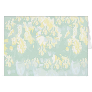 Lightshade Yellow Green Floral Template Card