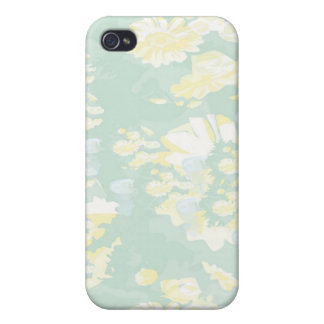 Lightshade Yellow Green Floral Template Cases For iPhone 4