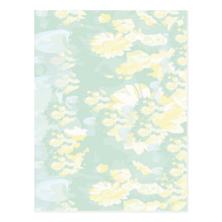 Lightshade Yellow Green Floral Template Postcard