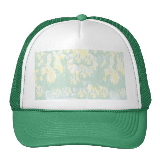 Lightshade Yellow Green Floral Template Trucker Hat