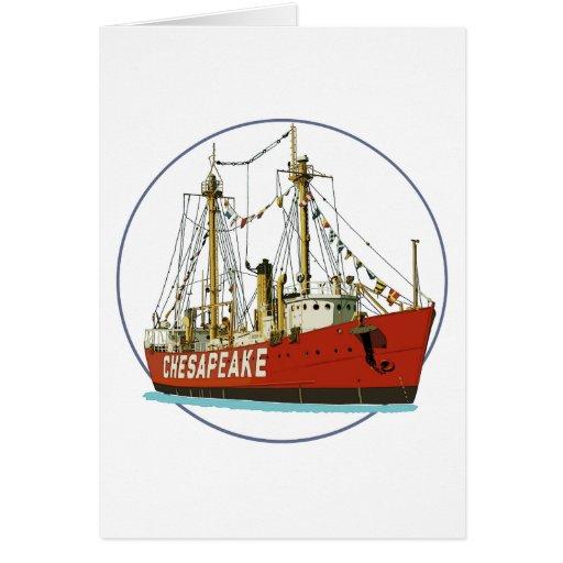 Lightship Chesapeake Greeting Card