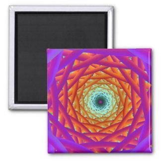 'Lightstrand Interweave' 2 Inch Square Magnet