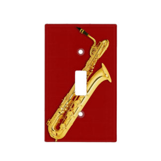 Lightswitch cover - Bass Sax - Pick your color! Light Switch Cover