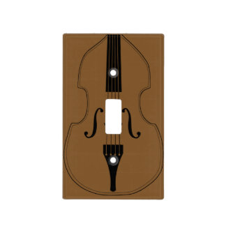 Lightswitch cover - Double Bass - Pick your color! Switch Plate Covers