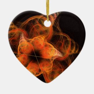 Lightworks Abstract Art Heart Ornament