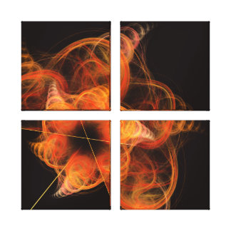 Lightworks Abstract Art Quad Canvas Print