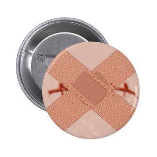 Ligó calzadas agrietadas cut suture aid pin redondo de 2 pulgadas