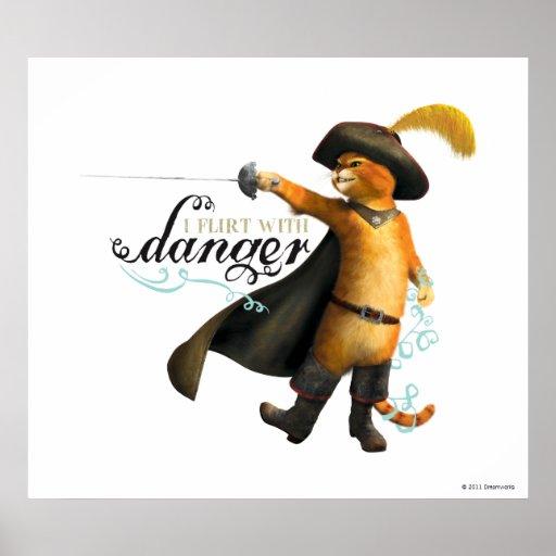 Ligo con el peligro (el color) póster