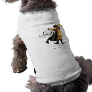 Ligo con el peligro (el color) playera sin mangas para perro