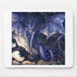 Ligón abstracto del chica del dragón de la fantasí tapetes de ratones