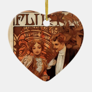 Ligón Adorno De Cerámica En Forma De Corazón