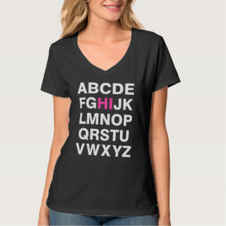 Ligón del alfabeto polera