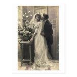 Ligón del francés - amor romántico del vintage tarjetas postales
