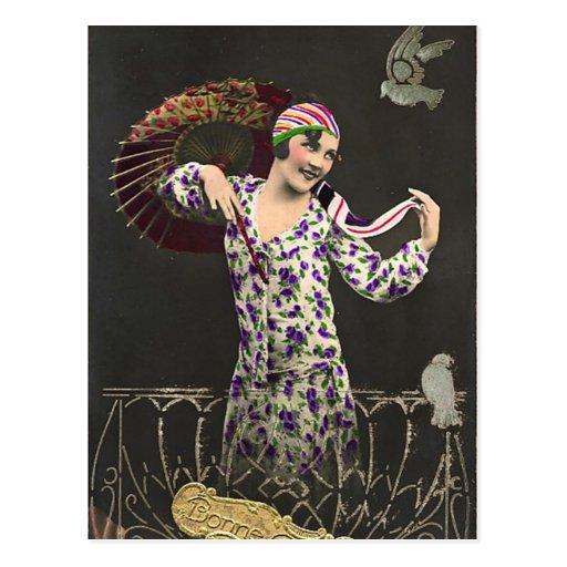 Ligón del francés - foto del chica del encanto del tarjeta postal